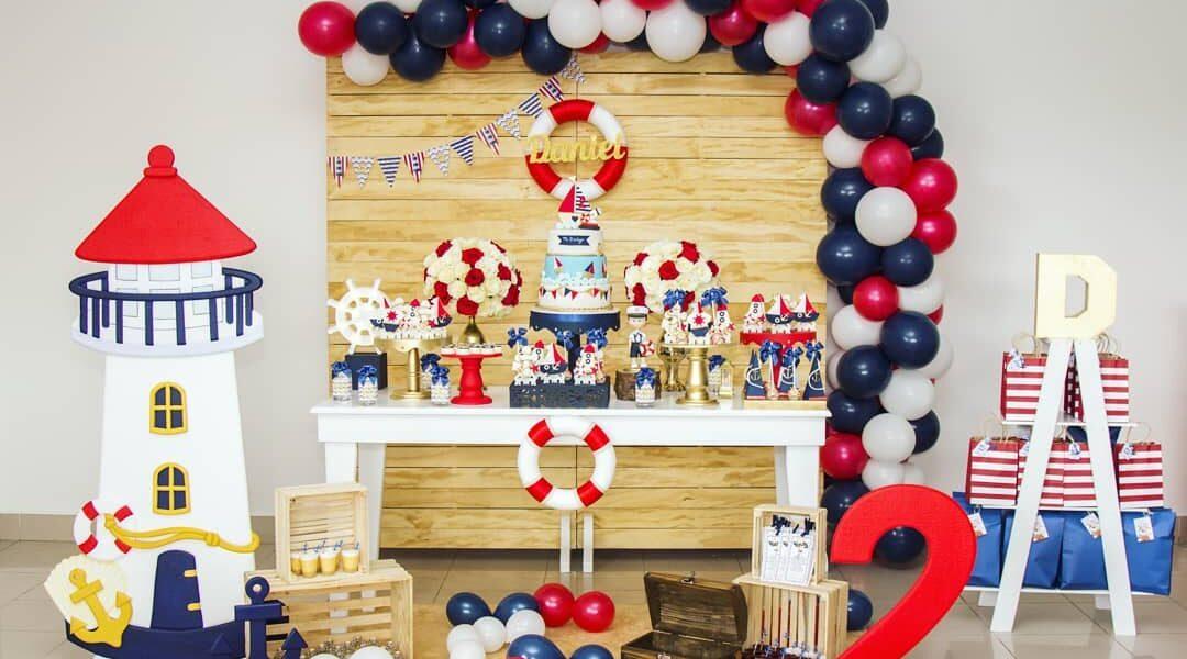 Ideas Para Fiesta De Marinero Decoración De Cumpleaños
